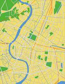 Vector illustration map of Bangkok — Stock Vector