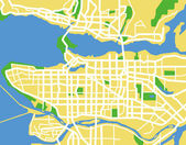Vector map of Vancouver. — Stock Vector