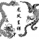 Dragon and Phoenix — Stock Vector