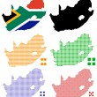 Stock Vector: Pixel map of South Africa