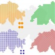 Royalty-Free Stock Vector: Pixel map of Switzerland
