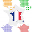 Pixel map of France — Stock Vector