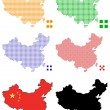 Stock Vector: Pixel map of china
