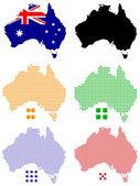 Pixel map of Australia — Stock Vector