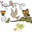 Royalty-Free Stock Imagen vectorial: Birds