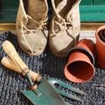 Gardening Boots — Stock Photo