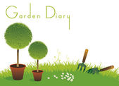 Gardening Diary Cover — Stock Photo