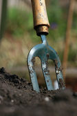 Garden Fork — Stock Photo
