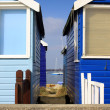Holiday Beach Huts — Stock Photo