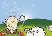 Sheep Farmer — Stock Photo
