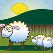 Family of Sheep — Stock Vector