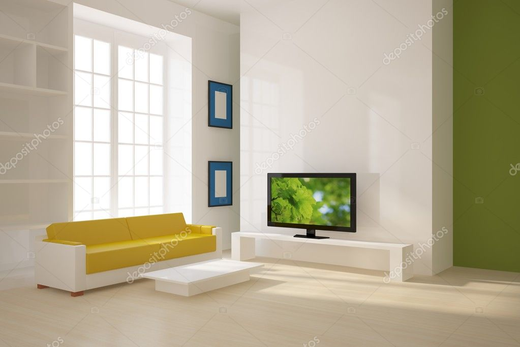 Colored interior with tv  Stock Photo #2306619