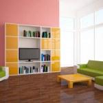 Colored interior — Stock Photo