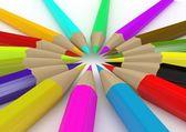 цветные карандаши, изолированные на белом — Стоковое фото