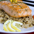 Royalty-Free Stock Photo: Salmon with wild rice