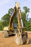 Hydraulic excavator from the front — Stock Photo