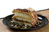 Caramel praline cake — Stock Photo