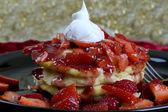Strawberry Pancakes — Stock Photo