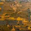 Brown circuit board — Stock Photo