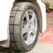 Stock Photo: Wheel of rally car