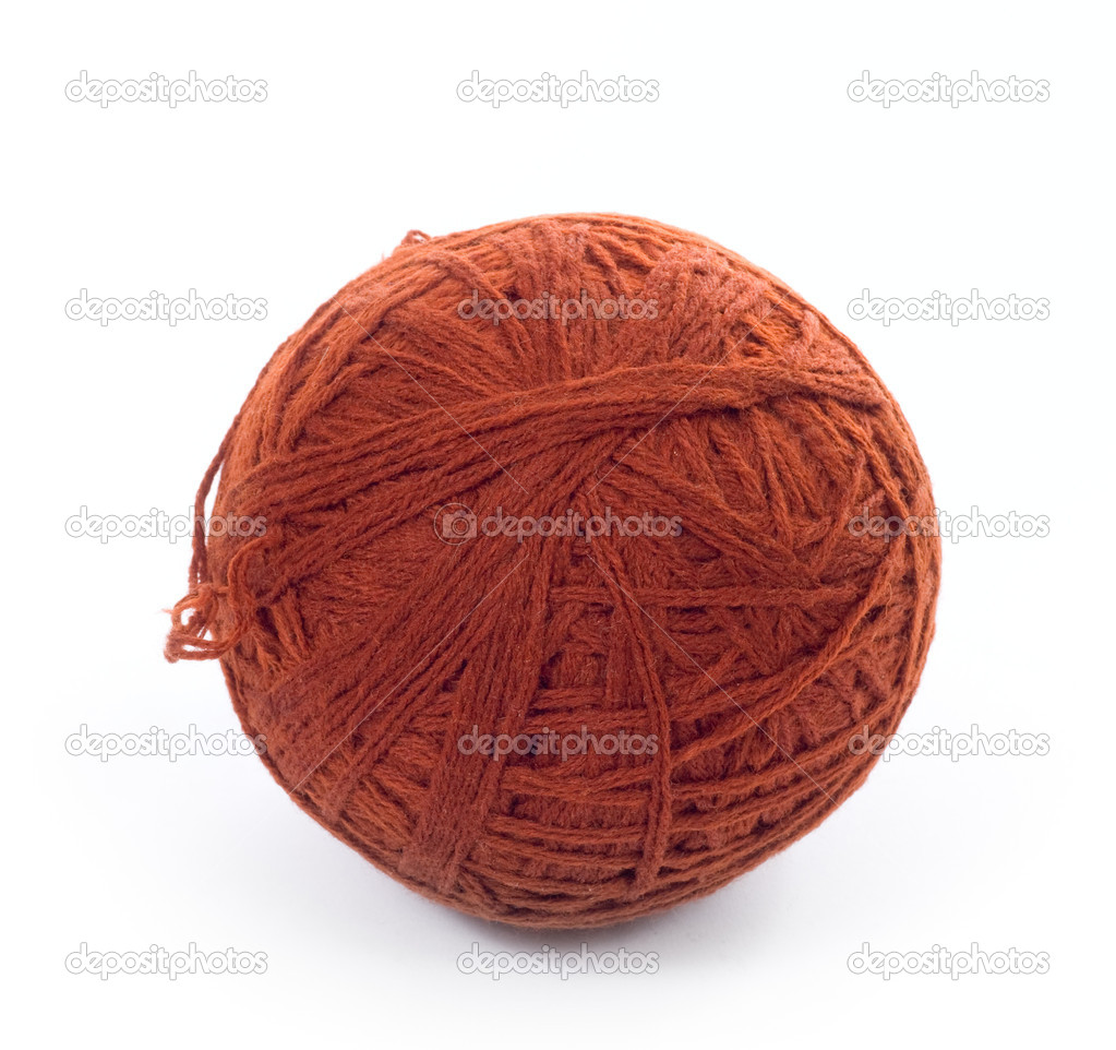 Brown wool yarn skein — Stock Photo #2319647