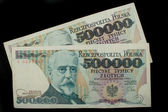 Five hundred thousand zloty — Stockfoto