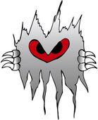 Devilish flame — Stock Vector