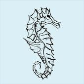 Seahorse illustration — Stock Vector