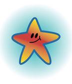 Smiling star — Stock Vector
