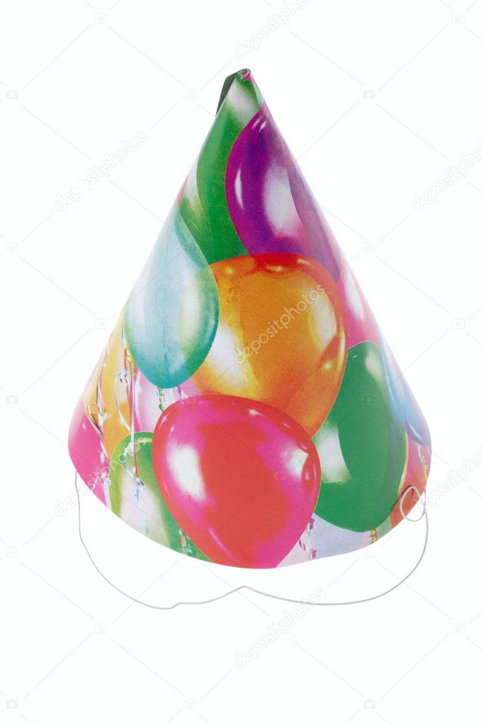 Party hats, photo on the white background — Stock Photo #2548468