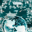 Royalty-Free Stock Photo: Technology earth globe