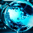 Blue world globe — Stock Photo