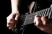 Electric guitar being played — Stock Photo
