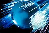 Earth and fiber optics — Stock Photo