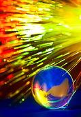 Fiber optics background — Stock Photo