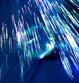 Vezels lichten rond de aarde te versnellen — Stockfoto