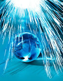 Earth and fiber optics — Stock Photo