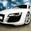 Stock Photo: WHITE SPORTS CAR