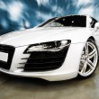 WHITE SPORTS CAR - Stock Photo