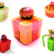 Colorful gift boxes — Stock Photo #2446125