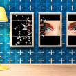 Framed eye and stand lamp — Stock Photo #2446231