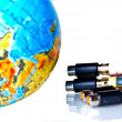 Cables near earth globe — Stock Photo #2446644