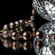 Golden bead with disco ball — Photo