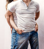 Young handsome couple — Stock Photo