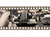 Coche en película de 35mm — Foto de Stock
