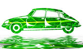 Green car — Stock Photo