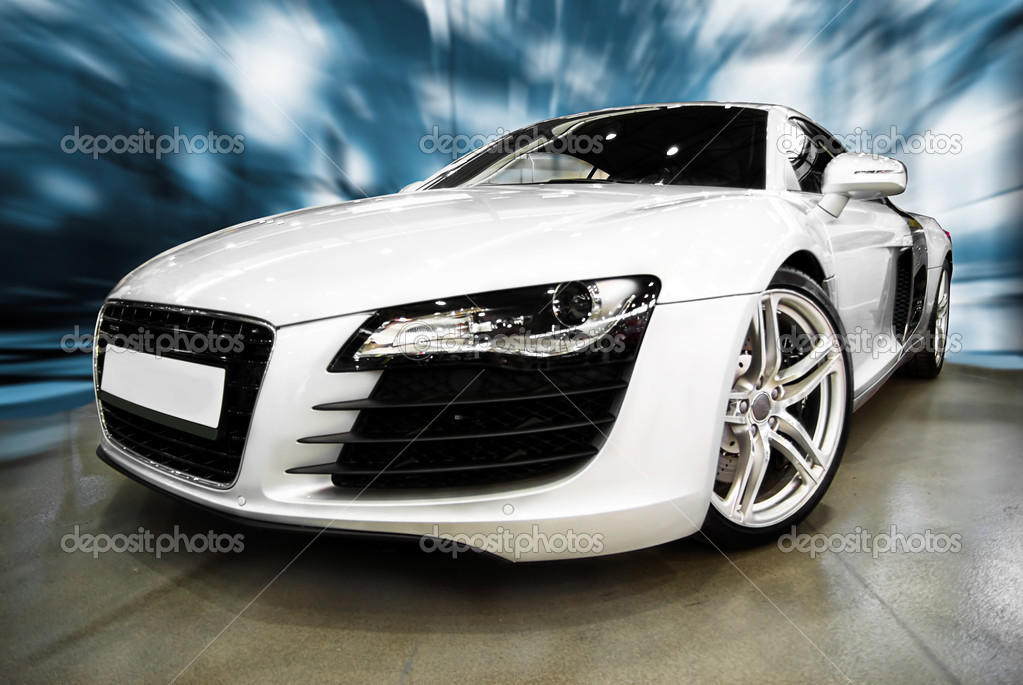 Super Prestige white Sports Car — Stock Photo #2445649