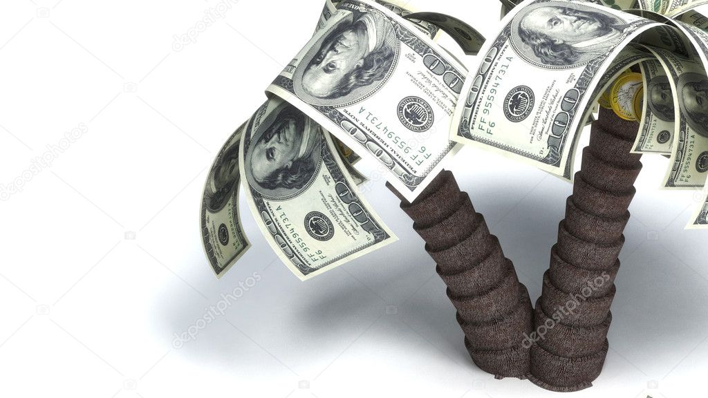 Money growing on trees, dollars  — Stock Photo #2445966