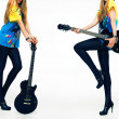 Stock Photo: Girls with guitar