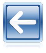 Arrow left icon blue — Stock Photo